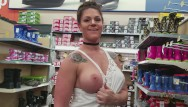 Embarrassing nude female Embarrassed walmart public nudity milf part 2