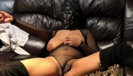 Masking fetish - 420 couple making her cum with her slutty mask on watching her fuck herself