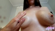 Big tit to milk - I fuck her and the she rides me while dropping milk from her big tits.