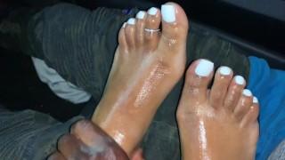 FootJob  with CUMSHOT