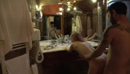 Pics of old ladies cock sucking - Mature lady fucked after shower in front of the mirror