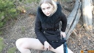 Amateur forest fuck A man noticed how i masturbated in the forest and fucked me
