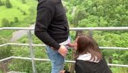 Anikin skywalker and asohka tono porn - Risky public blowjob and doggy on the skywalk - almost got caught