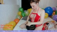 Balloon latex party - Balloon party - heeled milf wears bunny buttplug