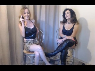Double Milf's Smoking  Dirty Talk About Young Cock They Fucked