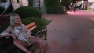 Hairy girl central Masturbation in front of tourists in public central city, pee on street