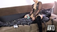 Femdom video cbt weied Femdom bondage sleepsack and electric cbt with daddy an li