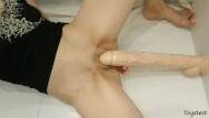 2 ended dildo - Her favourite size of big dildo, real orgasm at the end
