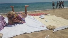 Public beach orgasm with lovens lush control by my stepbro
