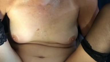 Amateur masturbating in front of mother then sex