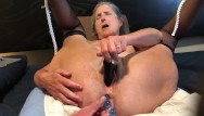 Grannies black mature thumbs - Hot milf masturbates with black rabbit and anal beads mature granny 60 year