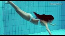 tiny teen szilva underwater naked