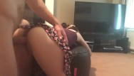 Sexy minor in skirt Cumming together while fucking on the foot stool wearing sexy skirt