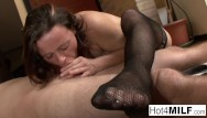 All over 30 tia nude - Brunette milf gets cum all over her face