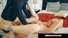 Dick Hungry Diva Julia Ann Muff Stuffed By Hard Cock Fanatic!