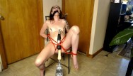 Pasted out mature tubes - Abused teen tied up and tormented with sex machine and wand past squirting