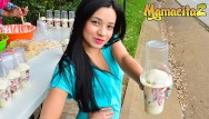 Russian teen pick up Mamacitaz - tiny colombian teen is picked up to get fucked