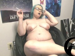 Bbw Bare Smoking