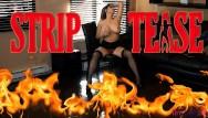 Heather burns naked - Burning striptease