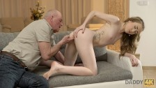 DADDY4K. Old man gets acquainted with son's girlfriend and fucks her