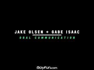 Boyfun – Twink Jake Olsen Barebacks Big Dicked American Gabe Isaac