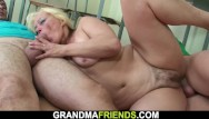 Photos of nude grannies screwing - Two boys screw old hairy granny sexy teacher on the floor