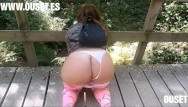 Xxx culo grande Girl with incredible ass fucks in the woods