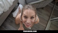 Seducing sexy moms - Pervmom - busty blonde cougar seduces her husbands son