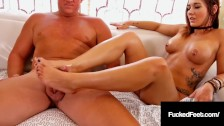 Tan Blonde Autumn Borelli Loves Fucking Cock With Her Fine Feet!