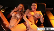 Difference between naked and nude Halloween fun between two hot milfs