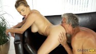 Amateur swimming Daddy4k. old and young sex in the villa after swimming in the pool