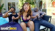 Monster tits threesome Bangbros - interracial big black cock threesome for thicc cougar ava devine