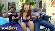 BANGBROS - Interracial Big Black Cock Threesome For Thicc Cougar Ava Devine