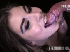 Premium Mass Ejaculation - Hellen V Gulps 72 Enormous Cum-shots In Throatful Bukkake