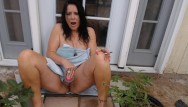 Mature moms masterbate Mom smokes and cums on black cock outside