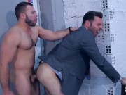 diego reyes and dario beck quick fuck hard before shooting lots of cum