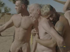 Hot Grandpa Hooks Up With Gay Porn Stars