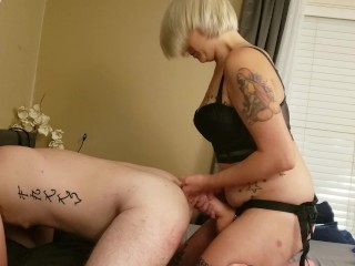 Sub Takes Mommies Thick Cock