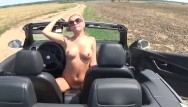 Girl fuck car shifter - Sexy blonde riding gear shifter in public place-lolyamateur