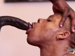 Almighty Lipz Drains A Thick Black Dick - breeditraw #jointhebreed