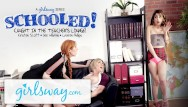 Erotic lounge torrents Teen caught in teachers lounge by 2 milfs gets schooled- girlsway