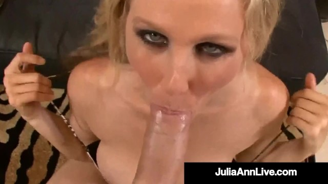 Hot Busty Horny Cougar Julia Ann Gets Her Magic Muff Plowed & Sowed!