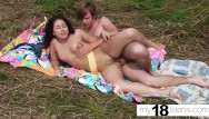 Sloppy pussy orgasm My18teens - gorgeous brunette sloppy blowjob and playing with pussy outdoor