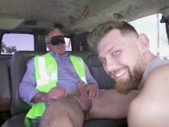 BAITBUS - Muscle Daddy Construction Worker Tricked Into Having Gay Sex