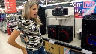Sound Control Vibrator In Public - No Orgasm, No Fuck, No Cumshot, But Fun