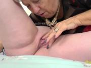 OldNannY Mature Lesbian Licking Session