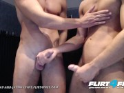 Athletic Studs Aiden and Justin Jerk Their Big Dicks