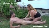 Old granny sucking cock Gorgeous granny loves sucking the gardener
