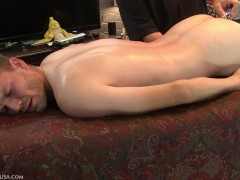 With eyes rolled back in his head Loras' cock spews precum