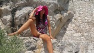 Asisan no panties getting fucked - No panties in public on turistic trail